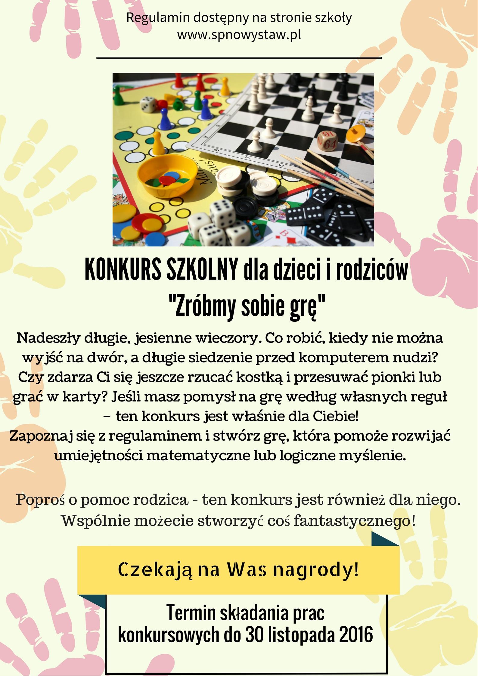 """""""Zróbmy sobie grę"""" – szkolny konkurs dla dzieci i rodziców"""