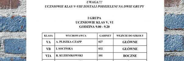 Rozpoczęcie roku szkolnego 2020/2021 (ul. Bankowa)